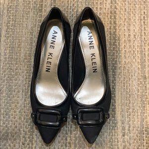 Anne Klein Leather Detail Kitten Heels